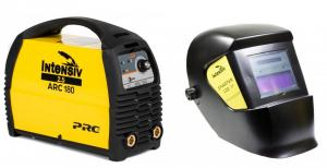 Pachet ARC 180 VRD - Aparat de sudura invertor Intensiv + Masca sudura cu cristale lichide Intensiv SPARTAN 110