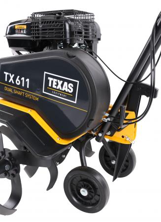 Texas TX611TG, motocultor profesional, transmisie dublu arbore, benzina, 4kW, latime 300-850mm, adancime 330mm, 2 viteze, garantie pe viata cutite5