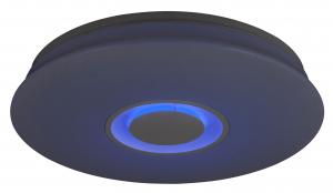 Plafoniera LED RGB cu boxa Rabalux Murry 4541, 24W, 1440 lm, dimabil, Bluetooth, Telecomanda, Alb0