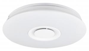 Plafoniera LED RGB cu boxa Rabalux Murry 4541, 24W, 1440 lm, dimabil, Bluetooth, Telecomanda, Alb1