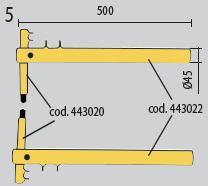 Set brate 500mm cu electrozi drepti Telwin [1]