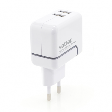 Incarcator Priza iPhone 6s, 6, 5SE, 5S, 5, 5c | 2.4A Dual USB with Lightning Cable | White 0