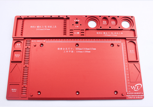 Integrated Mobile Phone Repair Station | WL | 468 x 318 x15 | Microscope Extend | Red 0