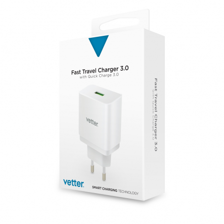 Incarcator Universal Travel | with Quick Charge 3.0 TECHNOLOGY | White 1