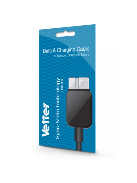 Cablu USB Samsung Galaxy S5 | Note 3 | Data and Charging Cable | Vetter Black 0