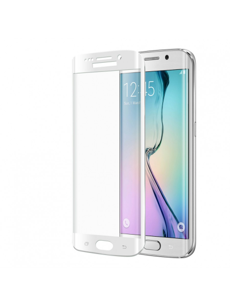 Folie Protectie Sticla Samsung Galaxy S6 Edge | 3D Tempered Glass Easy Fit | Gorilla Glass | White 1