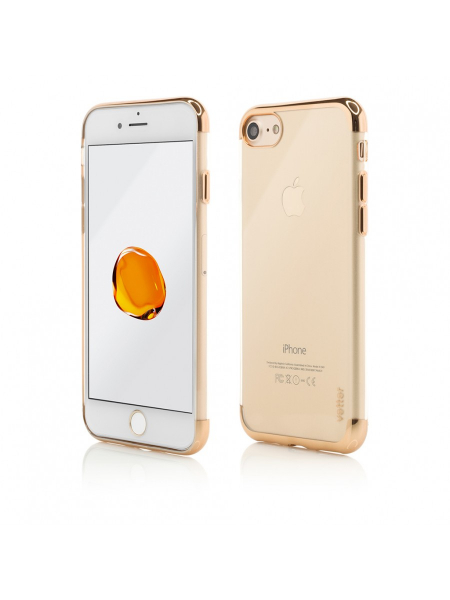 Husa iPhone 8, 7 | Clip-On Shiny Soft Series | Gold 0