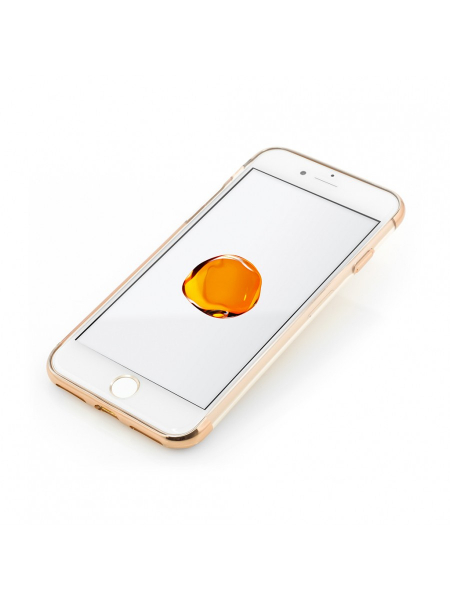 Husa iPhone 8, 7 | Clip-On Shiny Soft Series | Gold 1