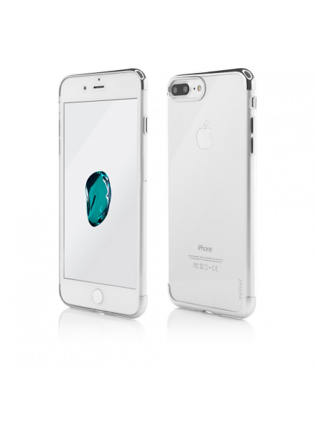 Husa iPhone 8 Plus, 7 Plus | Clip-On Shiny Soft Series | Silver [0]