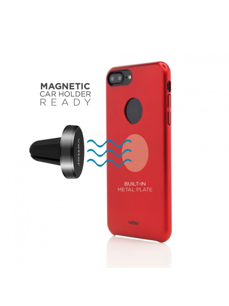 Husa iPhone 7 Plus | Clip-On Slim Magnetic Series | Metal Red 4