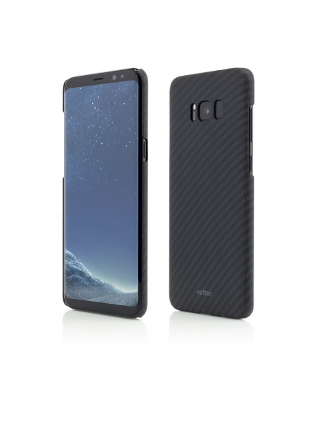 Husa Samsung Galaxy S8 G950 | Smart Case Carbon Design | Rubber Feel | Black 0