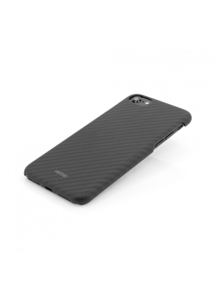 Husa iPhone 7 | Smart Case Carbon Design | Rubber Feel | Black 2