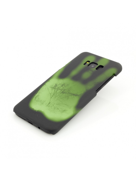 Husa Samsung Galaxy S8 Plus G955 | Clip-On Heat Sensitive | Color Changing | Black-Green 2