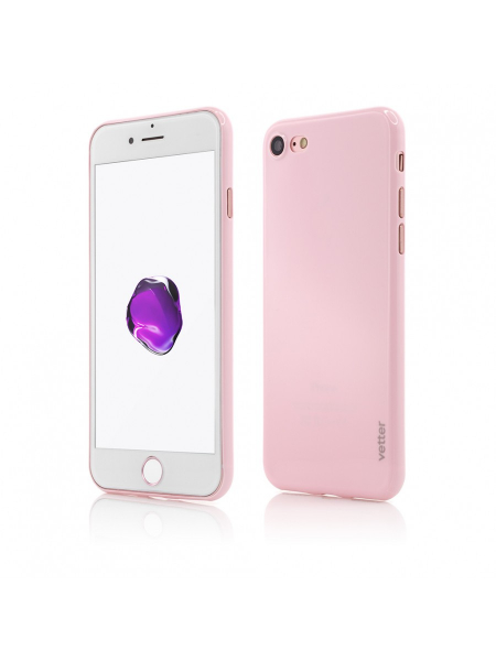 Husa iPhone 8, 7 | Clip-On | Ultra Thin Air Shiny Series | Pink 0