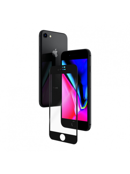 Folie Protectie Sticla iPhone 8, 7, 6s, 6 | 3D Tempered Glass Easy Fit | Black [1]