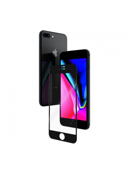 Folie Protectie Sticla iPhone 8 Plus, 7, 6s, 6 | 3D Tempered Glass Easy Fit | Black [1]