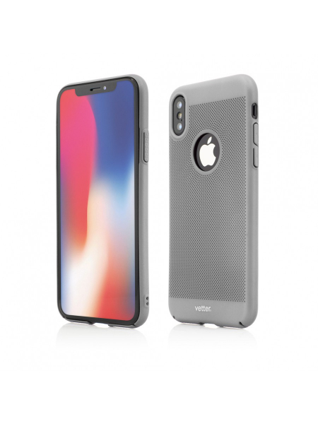 Husa iPhone XS, X | Clip-On Vent Series LTD | Silver 2