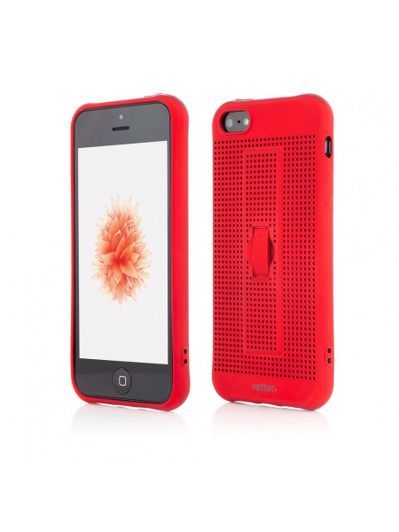 Husa iPhone SE, 5s, 5 | Vetter GO | Vent Soft with Strap | Red [0]