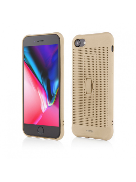 Husa iPhone 8, 7 | Vetter GO | Vent Soft with Strap | Gold 0
