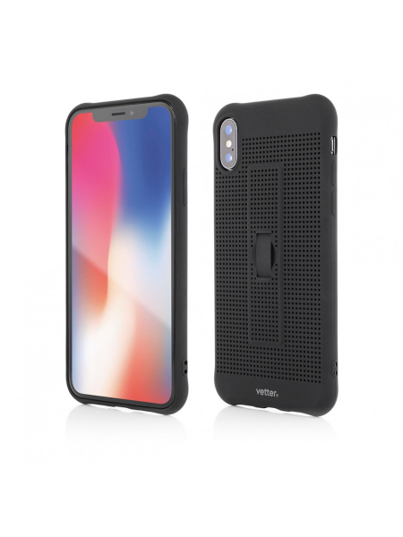 Husa iPhone XS, X | Vetter GO | Vent Soft with Strap | Black 0
