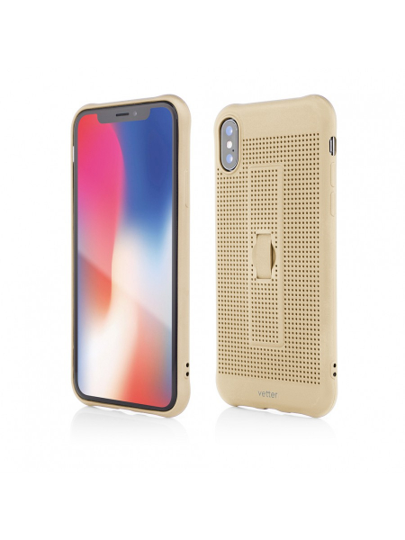 Husa iPhone XS, X | Vetter GO | Vent Soft with Strap | Gold 0