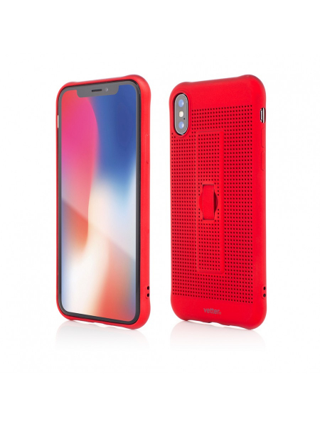 Husa iPhone XS, X | Vetter GO | Vent Soft with Strap | Red 0