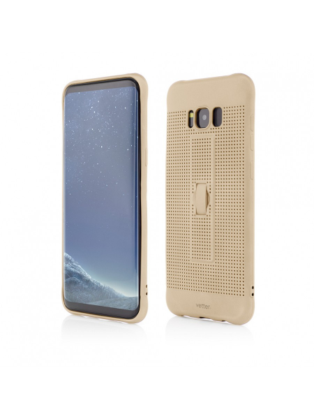 Husa Samsung Galaxy S8 Plus G955 | Vetter GO | Vent Soft with Strap | Gold [0]