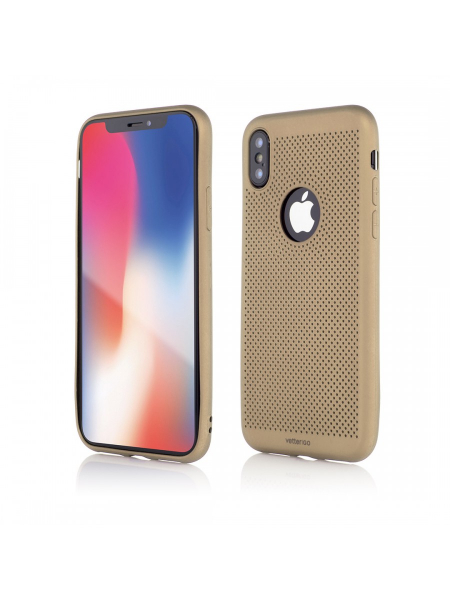 Husa iPhone XS, X | Vetter GO | Vent Soft | Gold 0
