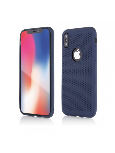 Husa iPhone XS, X | Vetter GO | Vent Soft | Blue 0