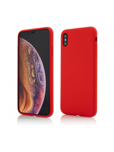 Husa iPhone XS, X | Clip-On Soft Touch Silk Series | Red 0