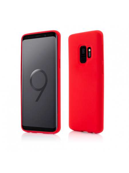 Husa Samsung Galaxy S9 | Clip-On Soft Touch Silk Series | Red 0