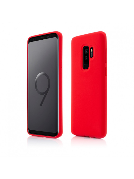 Husa Samsung Galaxy S9 Plus | Clip-On Soft Touch Silk Series | Red 0