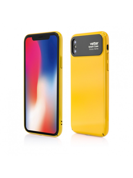 Husa iPhone X | Smart Case Glossy Series | Yellow 0