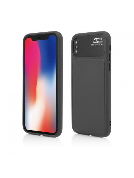 Husa iPhone XS, X | Smart Case Easy Grip | Black 0