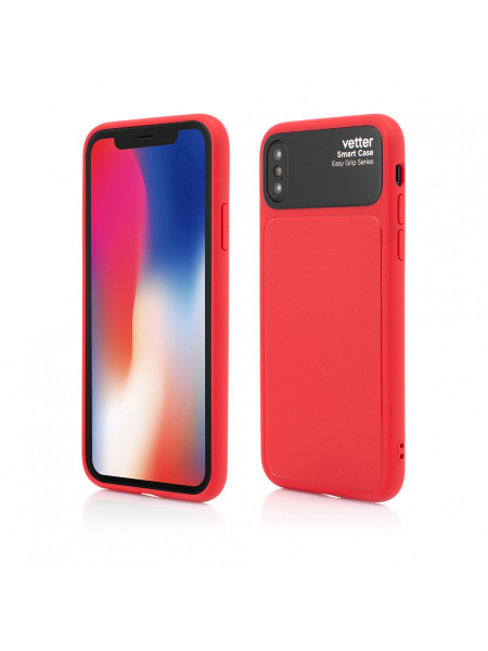 Husa iPhone XS, X | Smart Case Easy Grip | Red 0