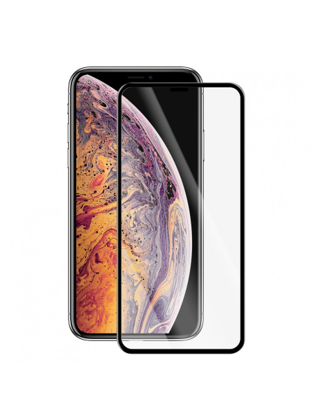 Folie Protectie Sticla iPhone XS Max | Full Frame Tempered Glass Vetter GO | Black 1
