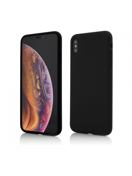 Husa iPhone XS Max   Clip-On Soft Touch Silk Series   Black 0