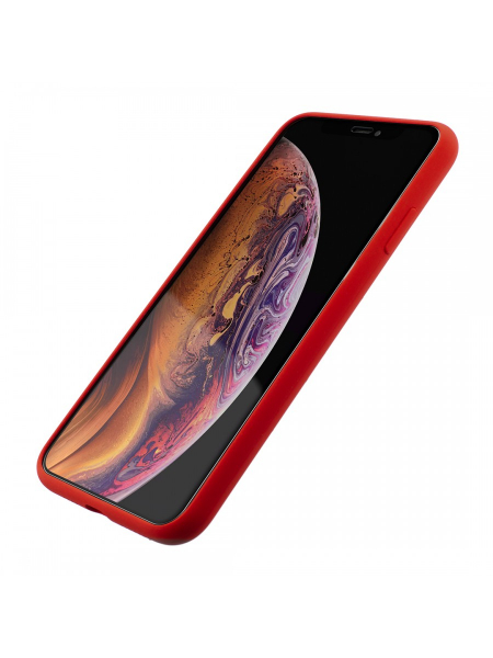 Husa iPhone XS Max | Clip-On Soft Touch Silk Series | Red 1