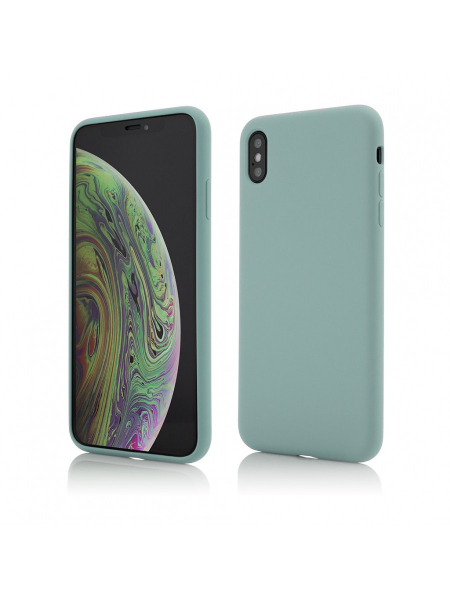 Husa iPhone XS Max | Clip-On Soft Touch Silk Series | Green 0