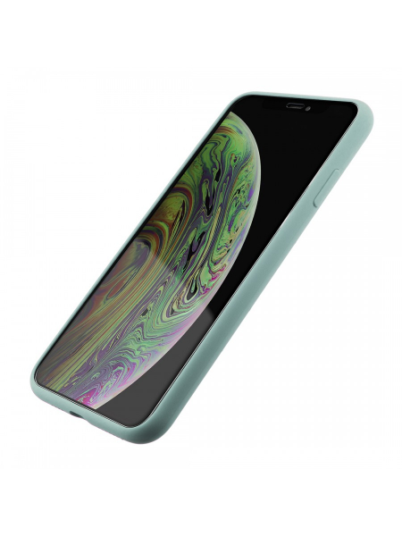 Husa iPhone XS Max | Clip-On Soft Touch Silk Series | Green 1