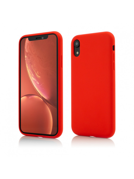 Husa iPhone XR | Clip-On Soft Touch Silk Series | Red 0