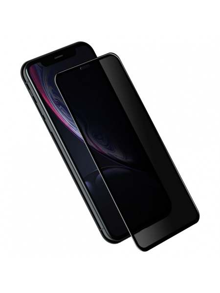 Folie Protectie Sticla iPhone XR | 3D Privacy Series | Black 1