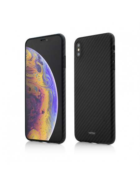 Husa iPhone XS Max | Clip-On Ultra Slim | made from Aramid Fiber | Kevlar | Black 0
