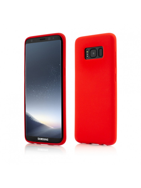 Husa Samsung Galaxy S8 | Clip-On Soft Touch Silk Series | Red 0