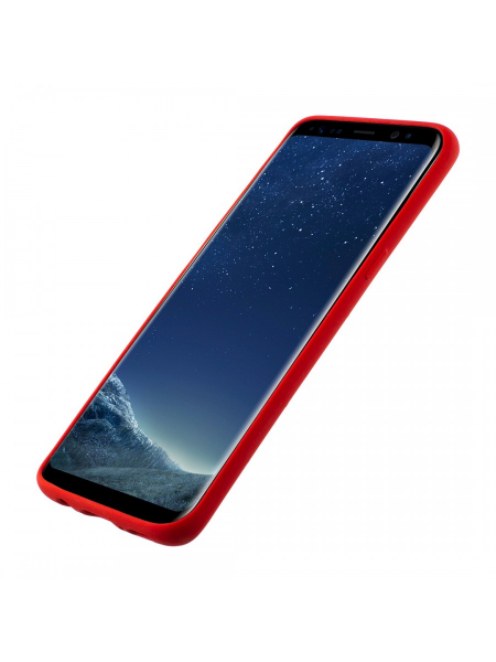 Husa Samsung Galaxy S8 | Clip-On Soft Touch Silk Series | Red 1