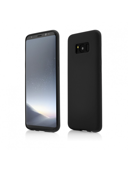 Husa Samsung Galaxy S8 Plus | Clip-On Soft Touch Silk Series | Black 0