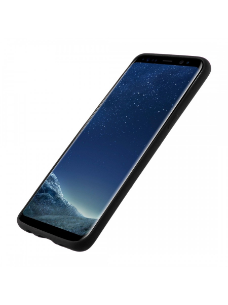 Husa Samsung Galaxy S8 Plus | Clip-On Soft Touch Silk Series | Black 1
