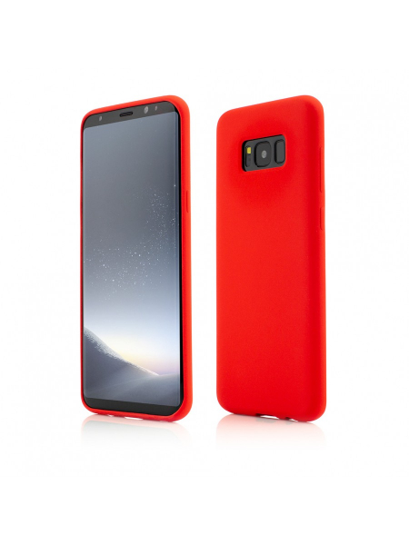 Husa Samsung Galaxy S8 Plus | Clip-On Soft Touch Silk Series | Red 0