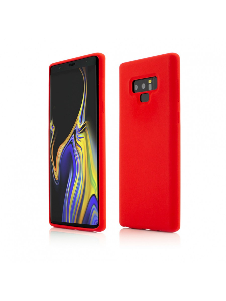 Husa Samsung Galaxy Note 9 | Clip-On Soft Touch Silk Series | Red 0