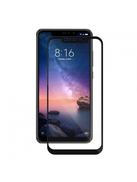 Folie Protectie Sticla Xiaomi Redmi Note 6 Pro | Full Frame Tempered Glass Vetter GO | Black 1